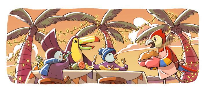 Google推出企鹅系列doodle