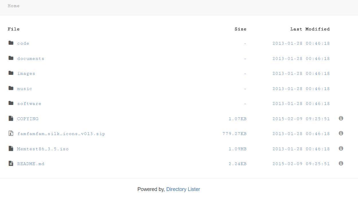 一个不错的PHP目录索引工具Directory Lister
