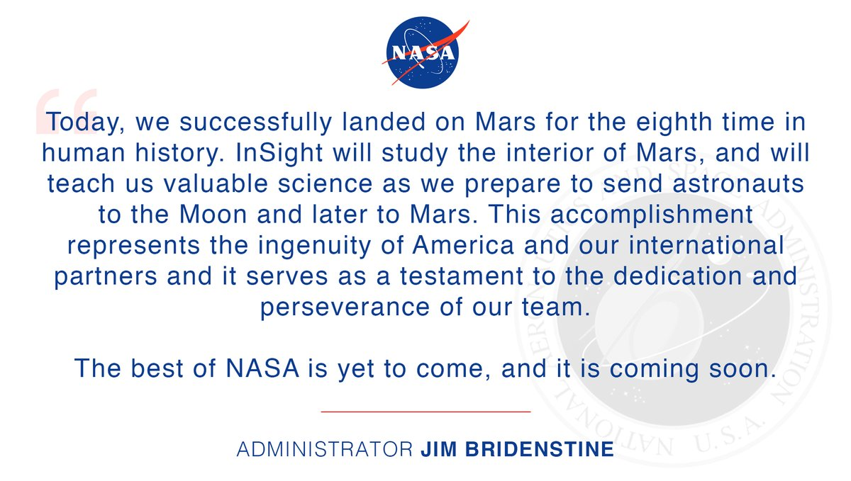 恭喜NASA成功登陆火星